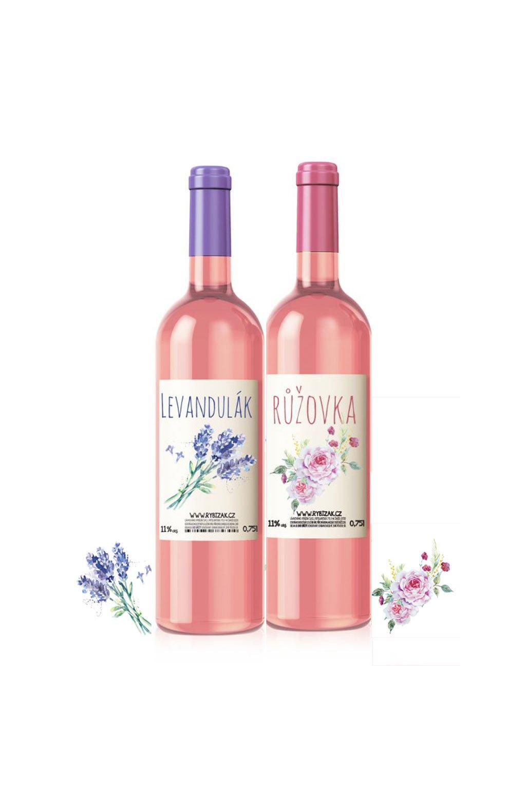 Květinový balíček Levandulak a Ruzovka Gurmeteka