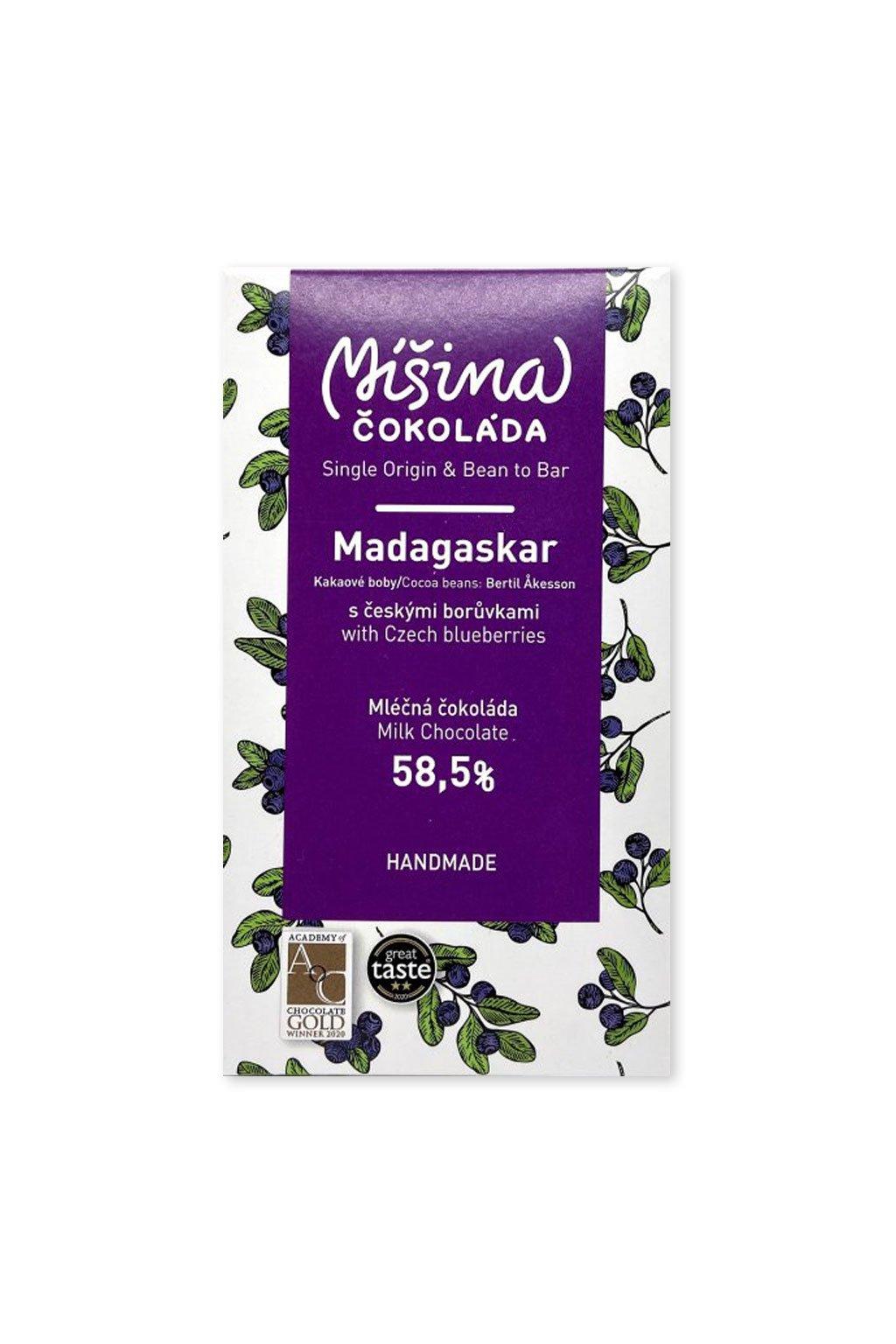 Madagascar 58,5% Borůvková mléčná
