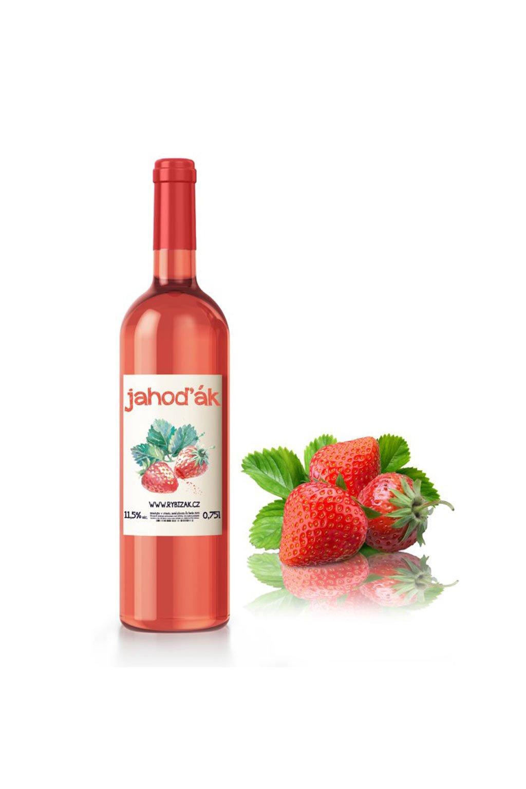 Jahoďák ovocné víno Gurmetéka