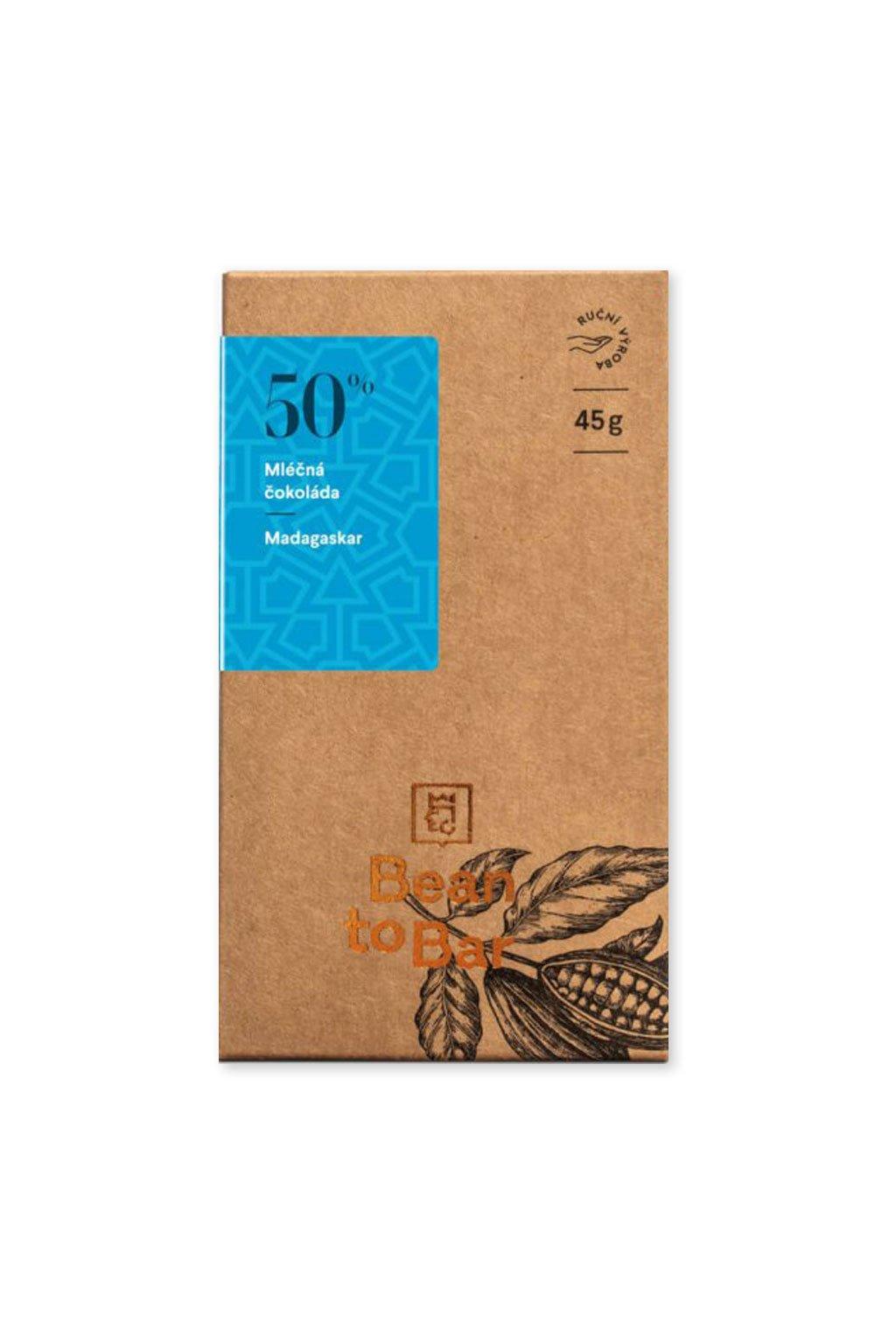 Čokoládovna Janek Mléčná 50% Madagaskar