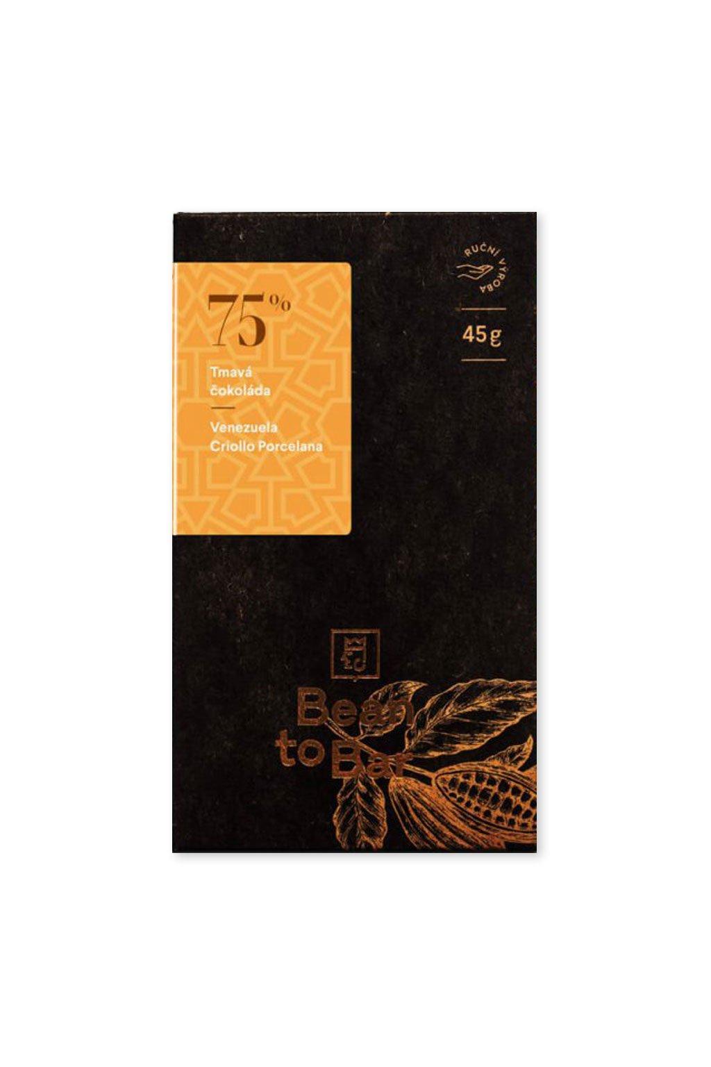 Čokoládovna Janek Tmavá 75% Venezuela