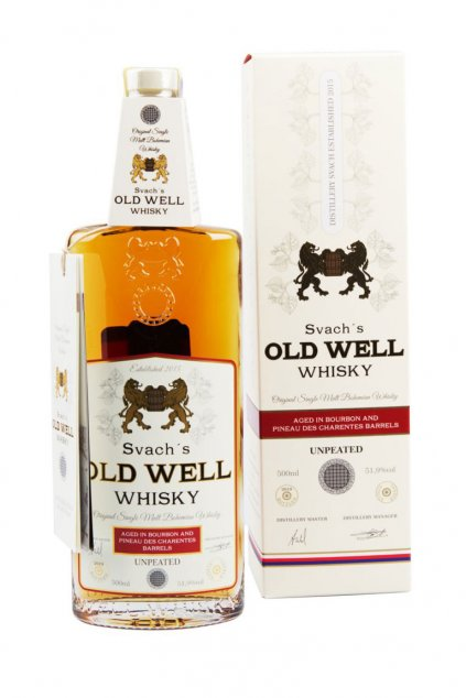 Svachovka Old Well whisky Bourbon a Pineau 51,9 2