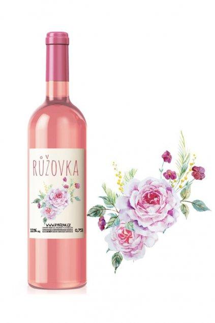 Růžovka ovocné víno z růží Gurmetéka