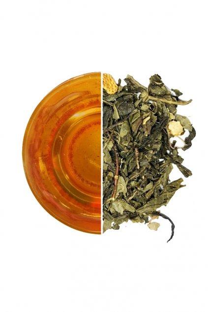 Zelený čaj China Sencha Japanese Lime JeČaj Gurmetéka