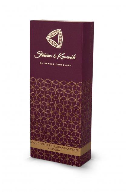 Kandované višně v hořké čokoládě s kakaem, 150 g