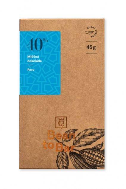 Čokoládovna Janek Mléčná 40% Peru