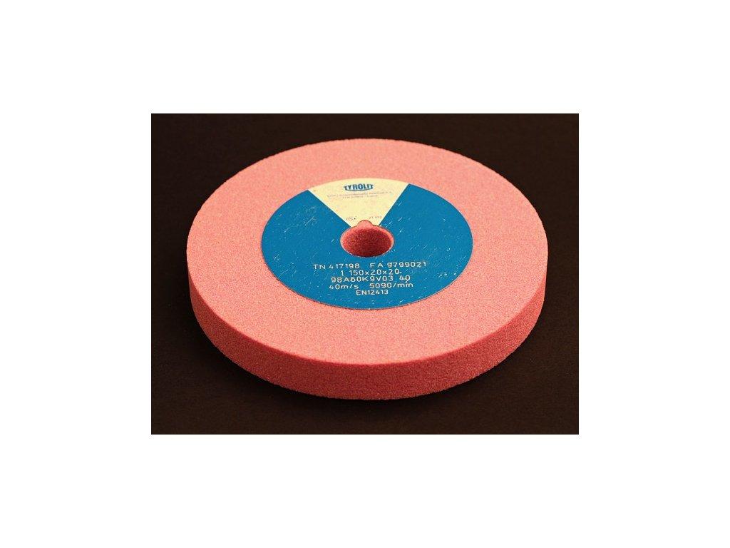 Brusný kotouč pro ostření nástrojů - korund růžový