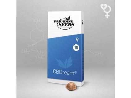 Paradise Seeds CBDream, feminizovaná semena konopí, 5ks