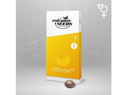 Paradise Seeds CBDrelief, feminizovaná semena konopí, 3ks