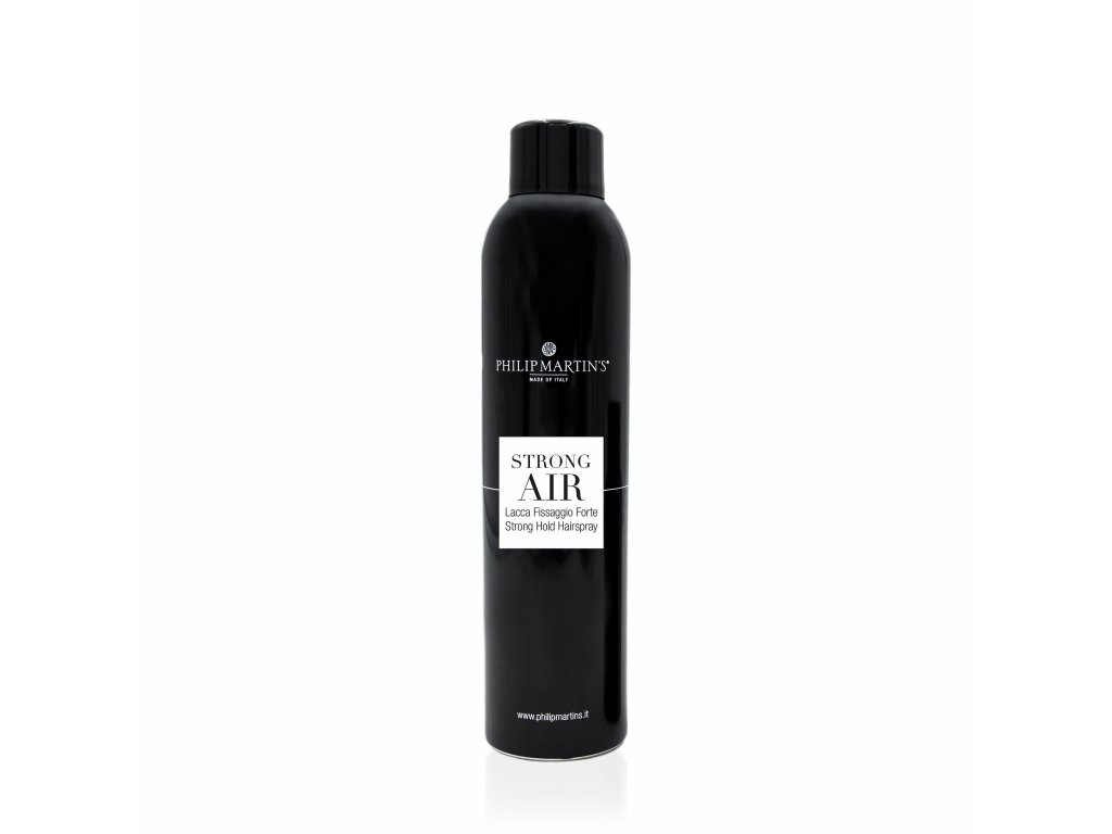 HAIRSPRAY STRON AIR BLACK lak na vlasy se silnou fixací