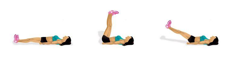 Cvik na břicho: Zvedání rovných nohou