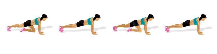 Cvik na břicho: Horolezec