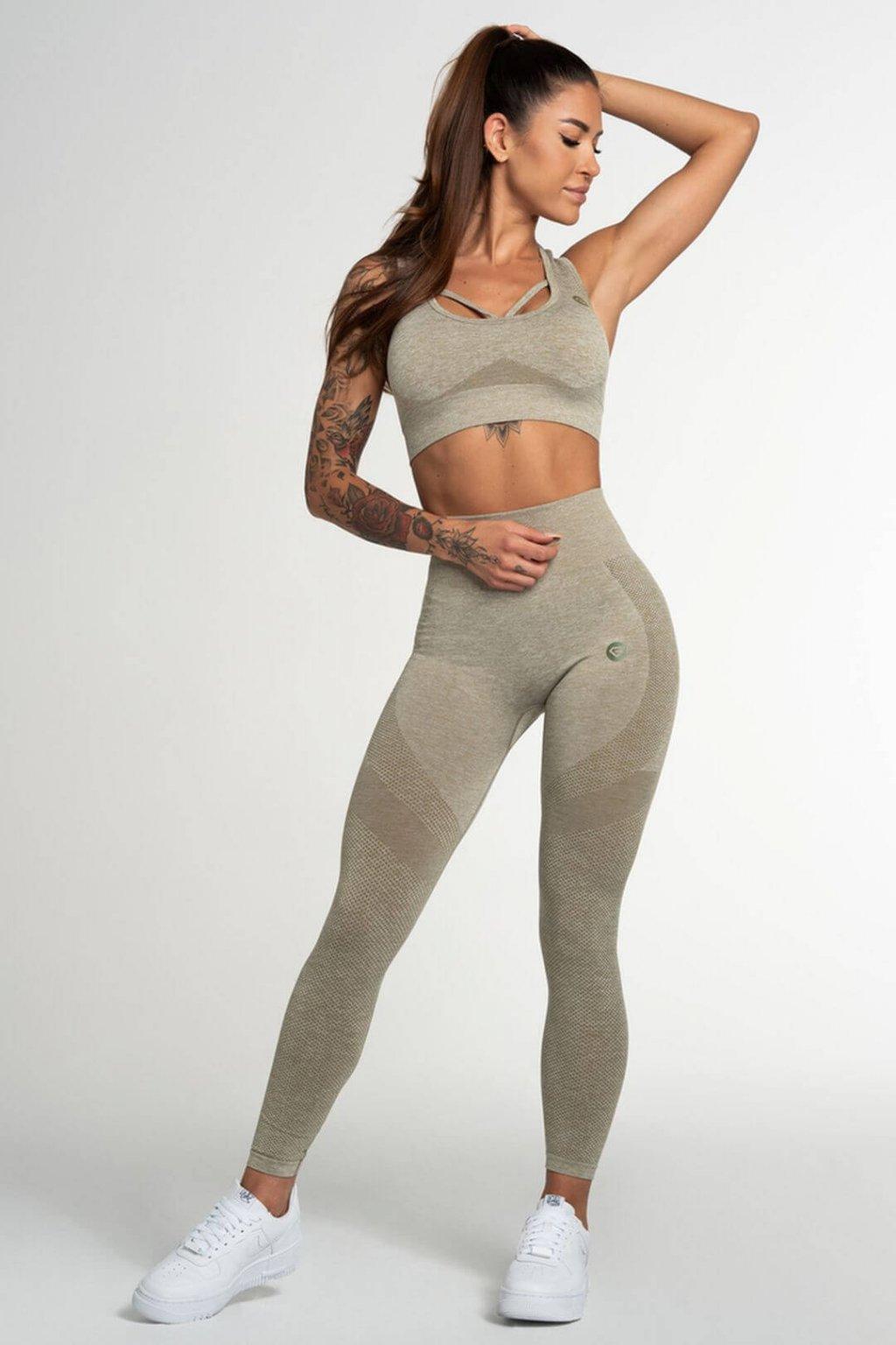 Legíny Gym Glamour Fusion Khaki