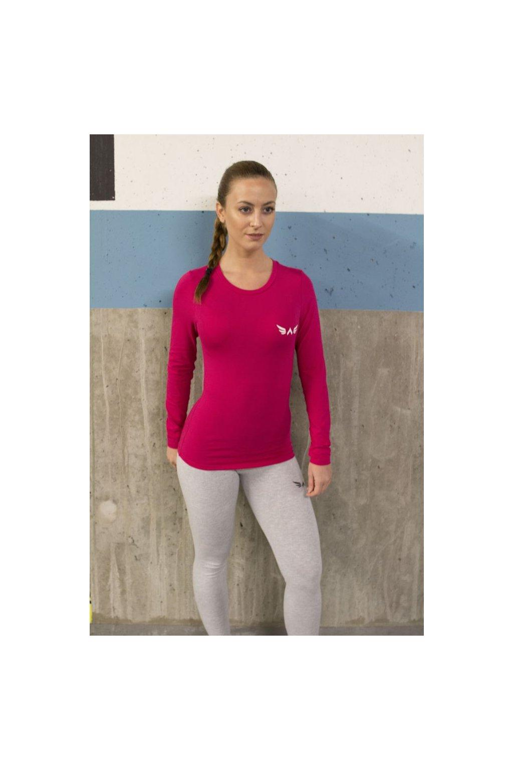 Dámské tričko Exalted s Dlouhým Rukávem - Růžové