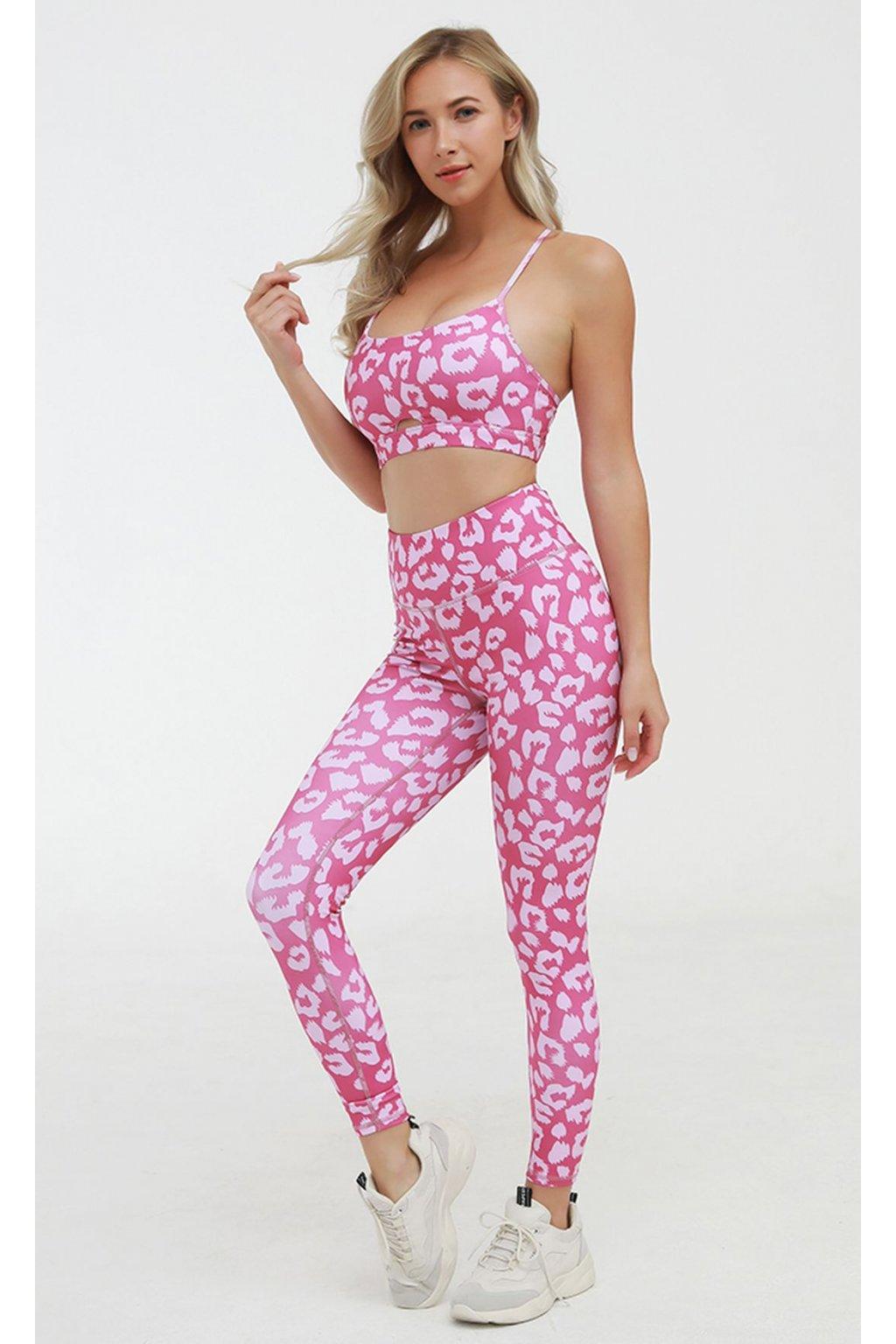 Dámský set Leopard Pink