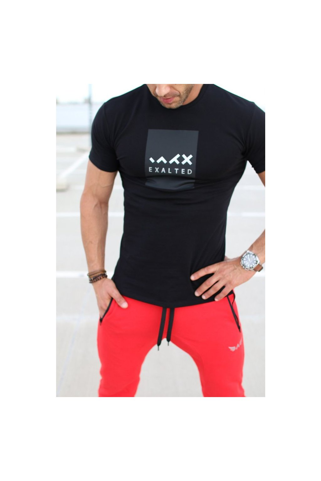 Pánské tričko Exalted E1- Černé