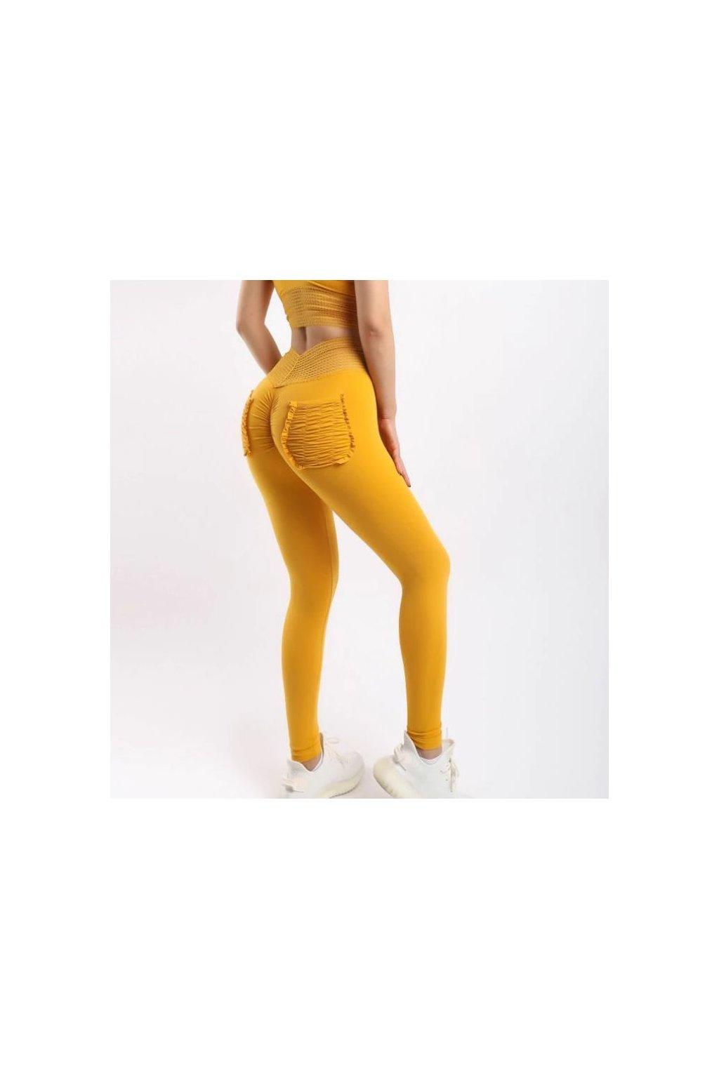 Dámské legíny Staple Elastic Yellow