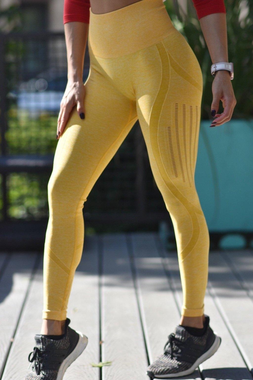 Dámské legíny Lux Seamless Yellow