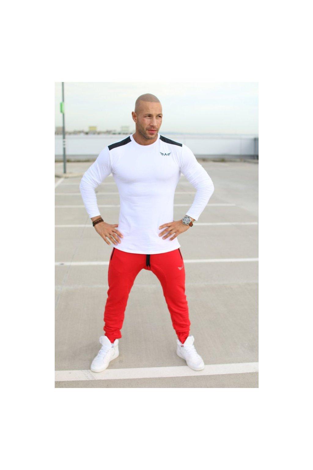 Pánské tričko Exalted L3 s Dlouhým Rukávem - Bílé