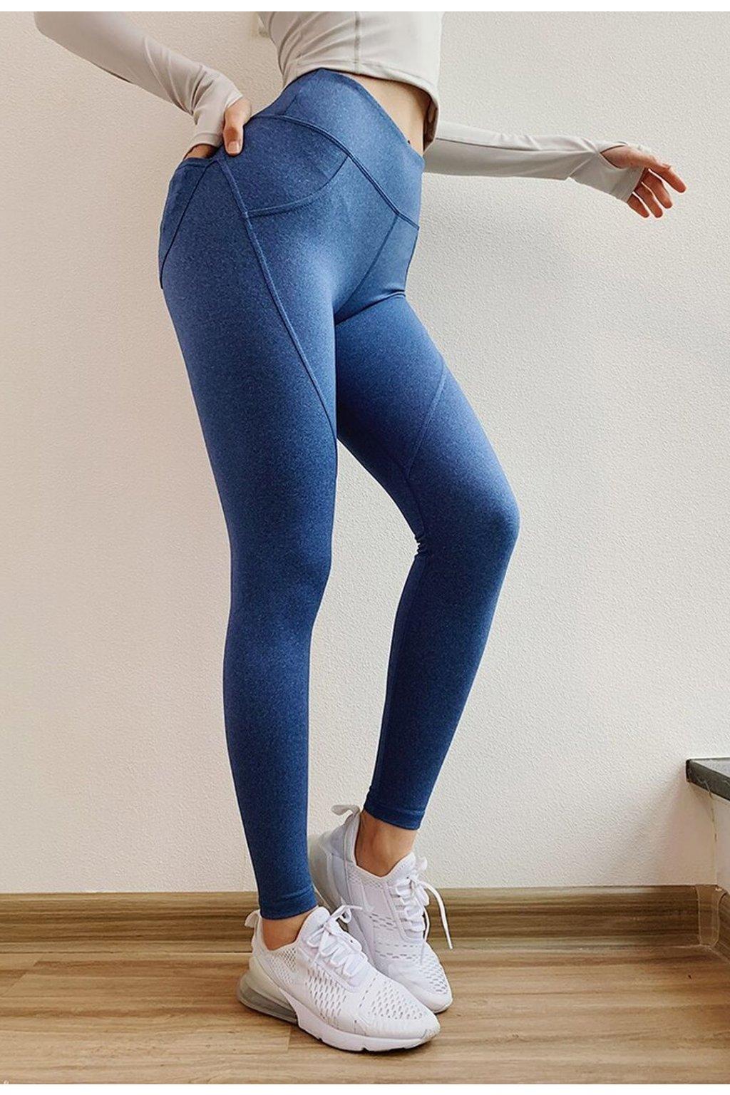 Dámské legíny Butt Pocket Dark Blue