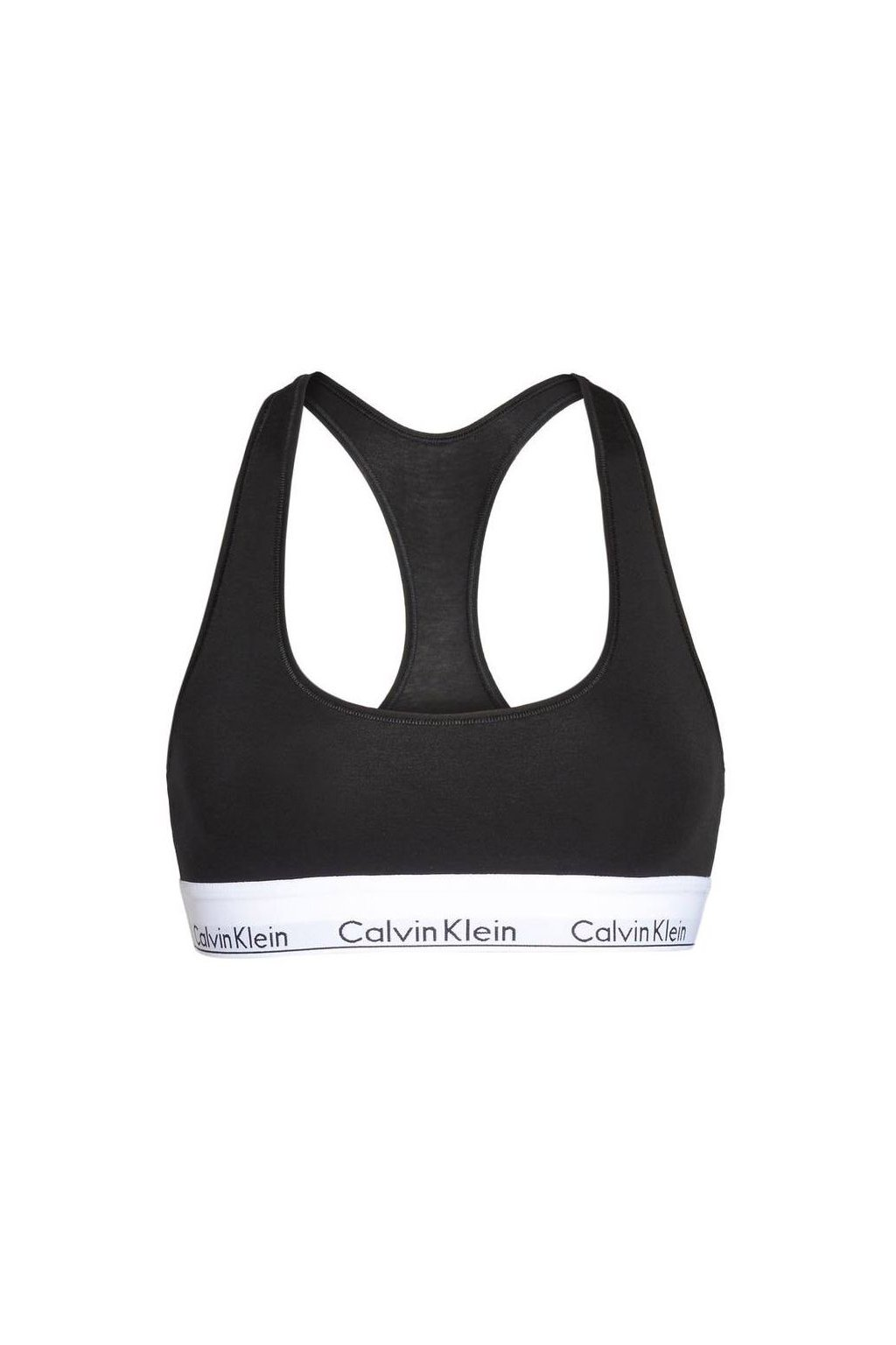 Calvin Klein podprsenka Bralette Unlined Černá