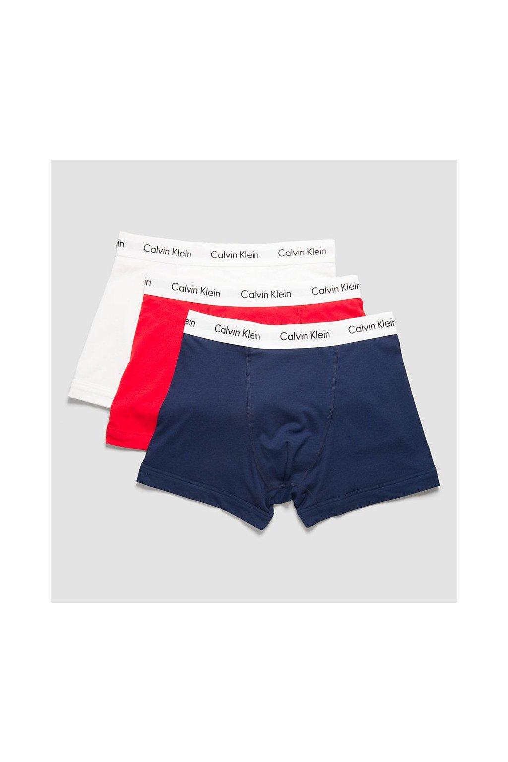 Calvin Klein 3 Pack Boxerky Blue, Red&White