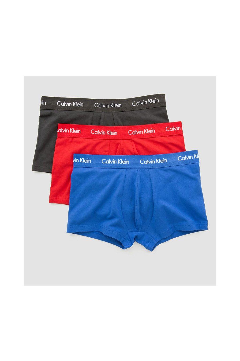 Calvin Klein 3Pack Boxerky Red, Black & Blue LR