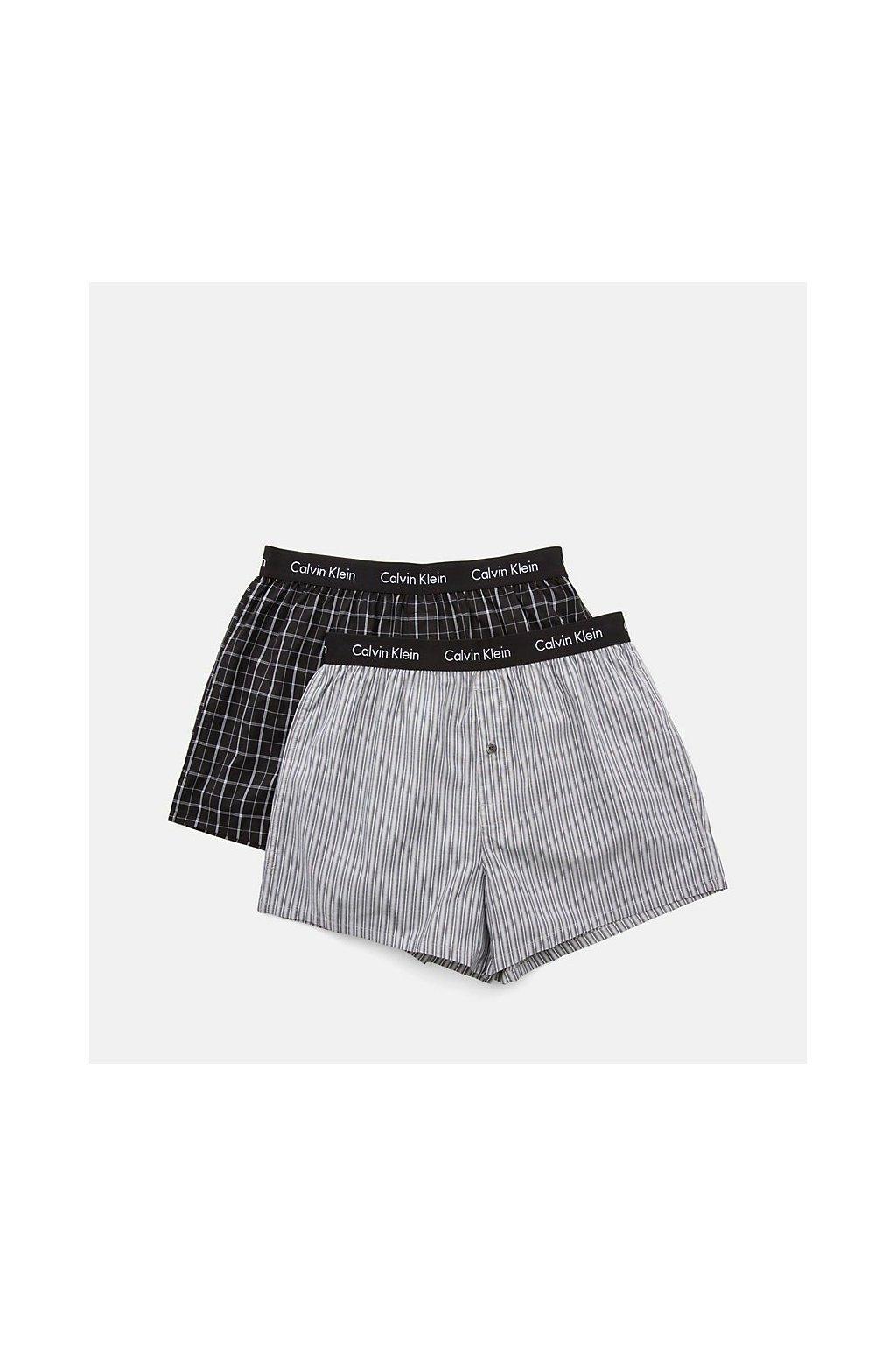 Calvin Klein 2Pack Trenky Černé Se Vzory