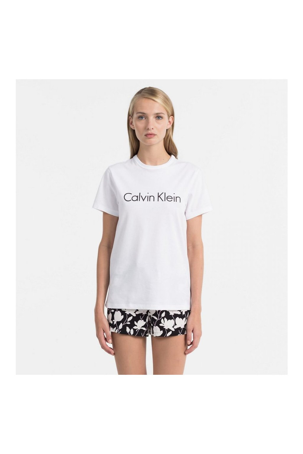 Calvin Klein Dámské Logo Dámské Tričko Bílé