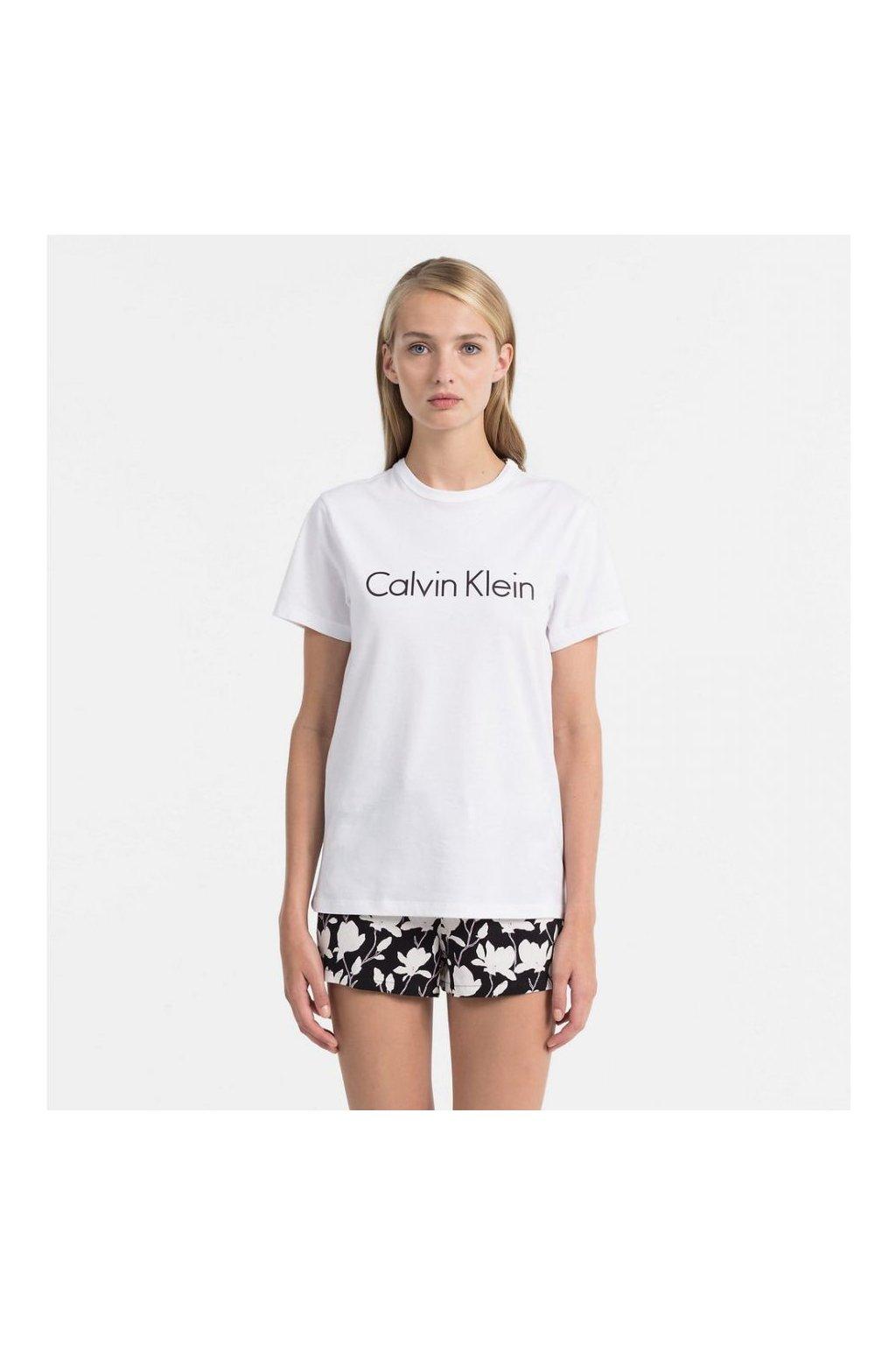 Dámské Tričko Calvin Klein Logo Bílé