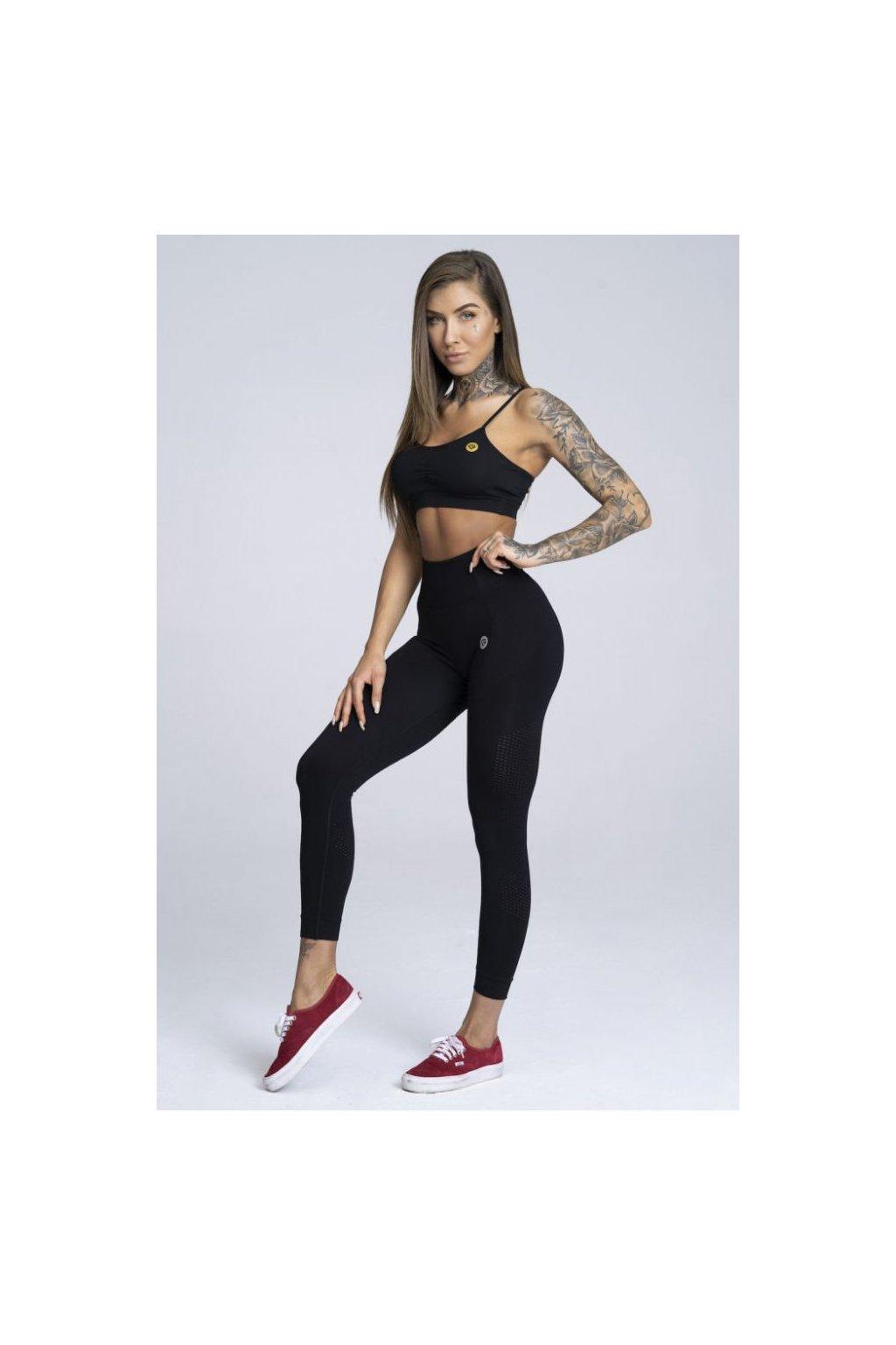 Legíny Gym Glamour Bezešvé Black