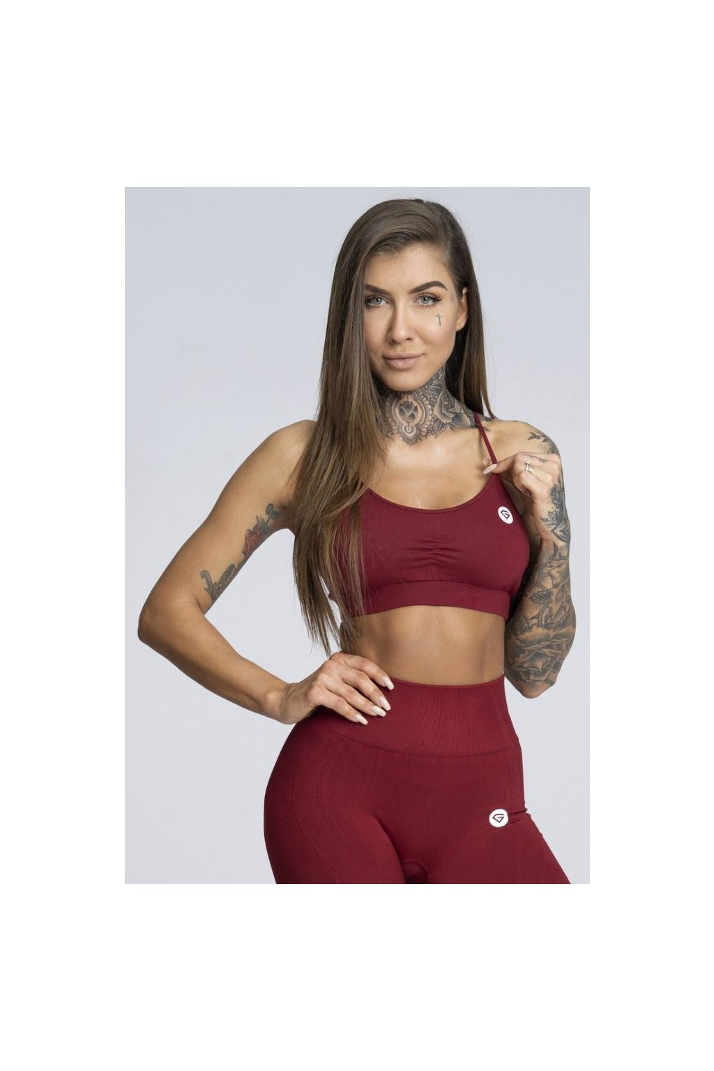 Podprsenka Gym Glamour Simply Bordo