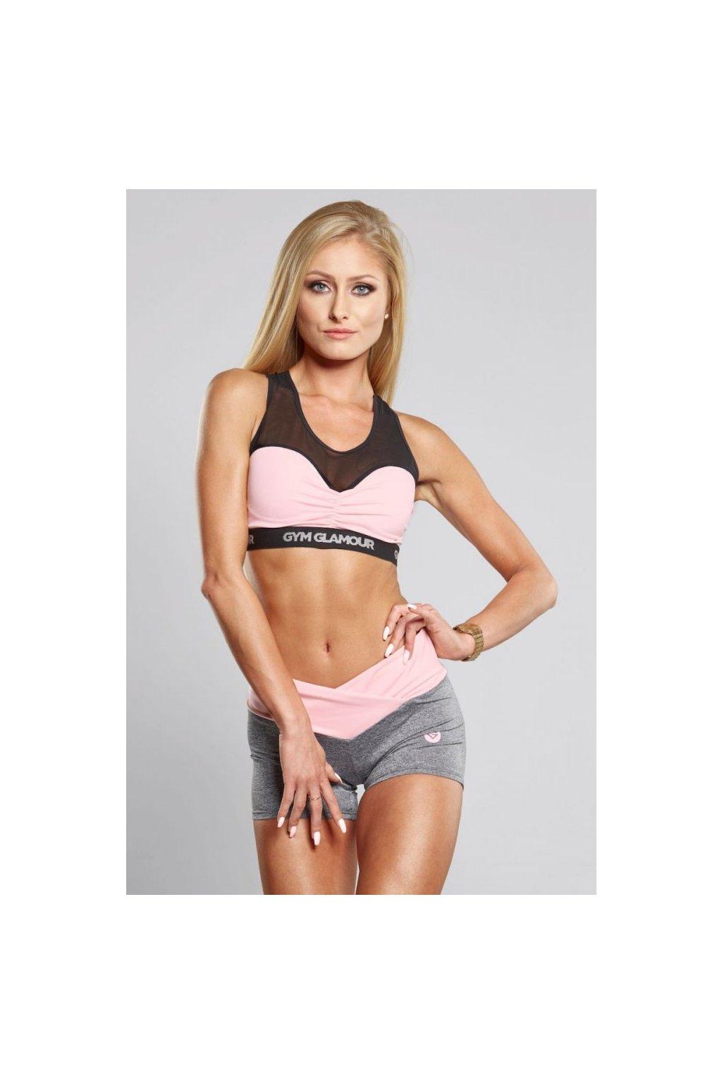 Kraťásky Gym Glamour Grey & Pink