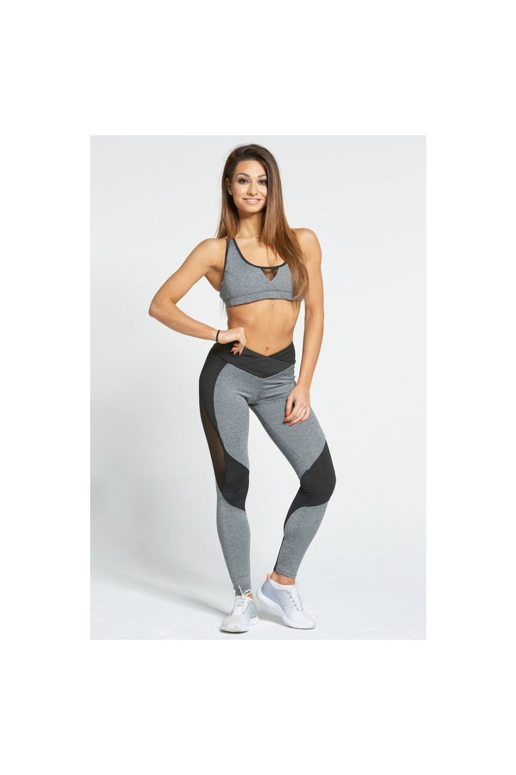 Legíny Gym Glamour Sexy Black And Grey
