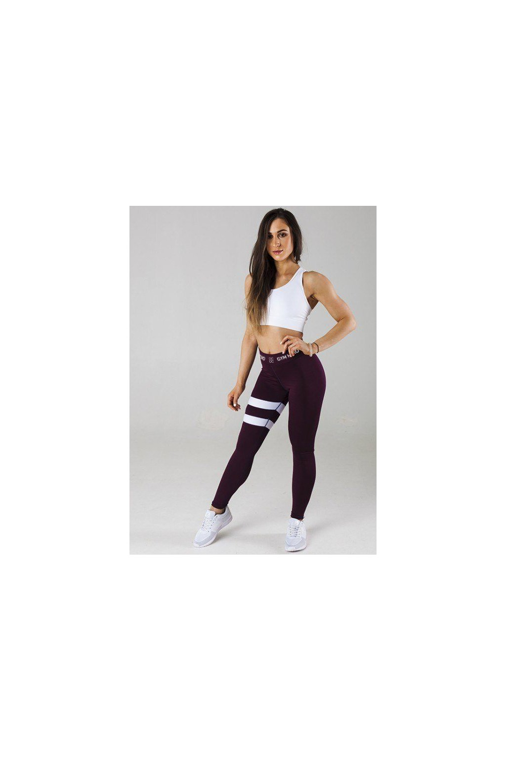 Legíny Gym Hero Burgund Stripes
