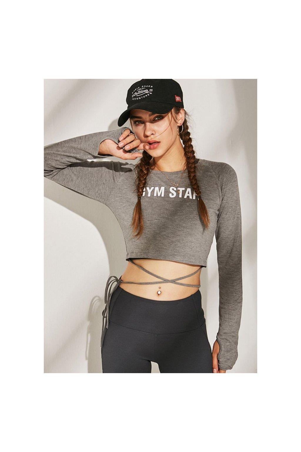 Dámský sportovní Top Gym Star Grey