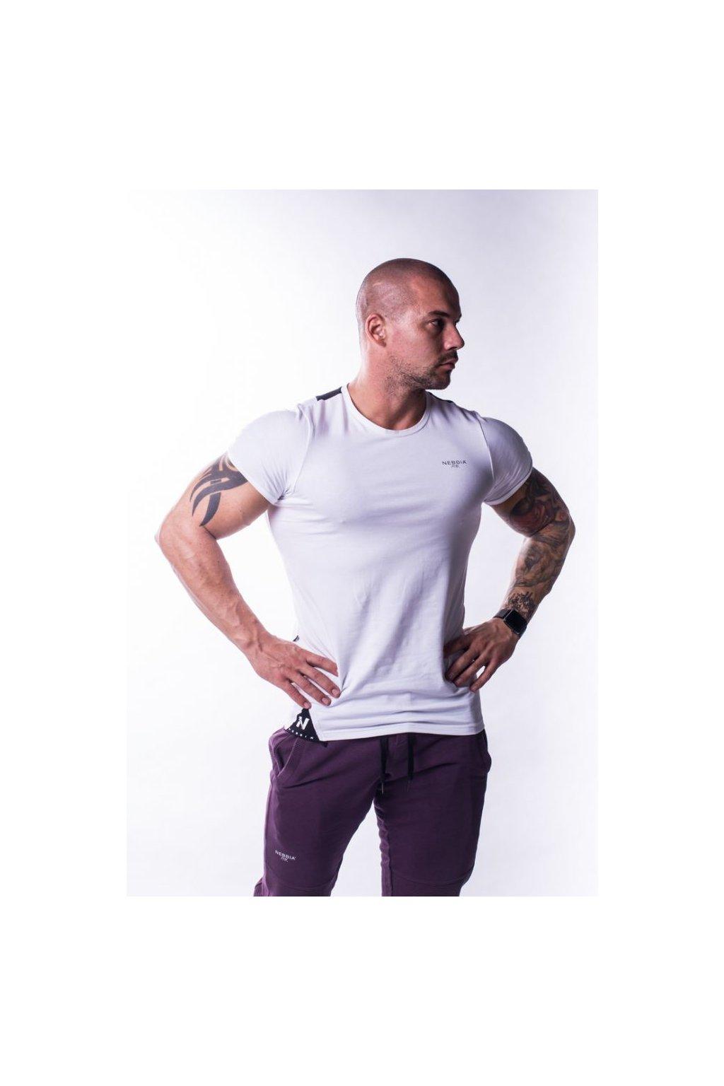 Nebbia Tričko 728 Muscle Back Bílé