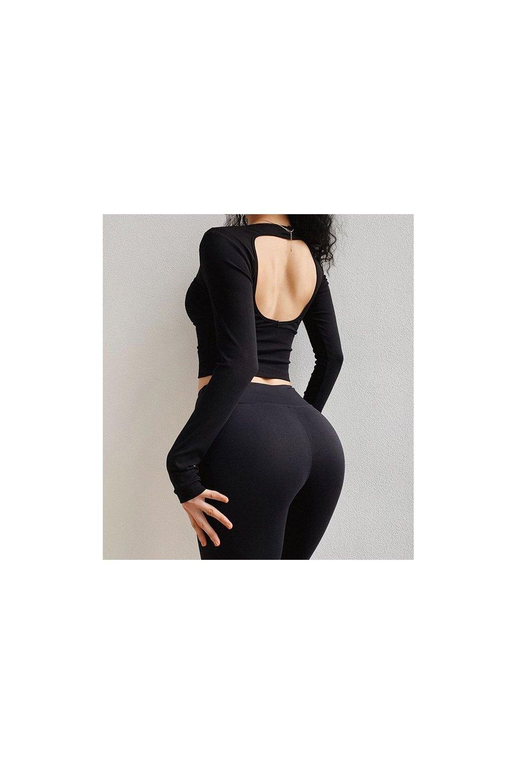 Dámský top Open Back Black