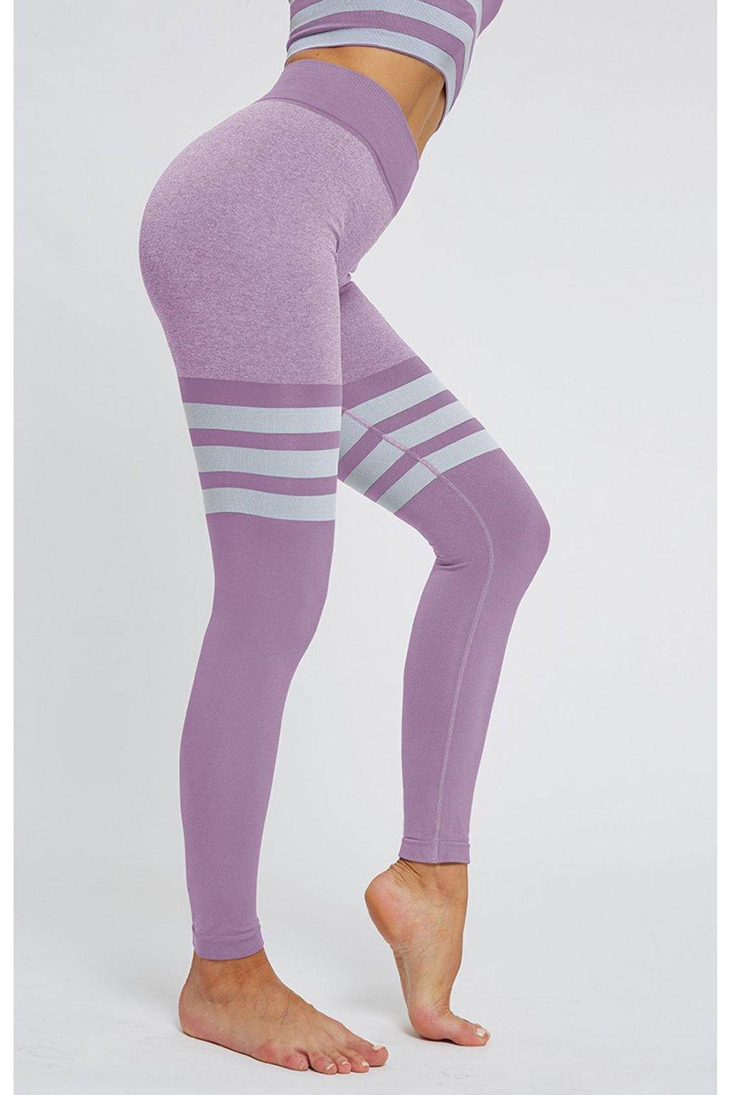 Dámské legíny Seamless High Sock Fialové