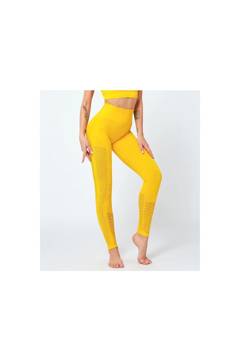 Dámské legíny Seamless Support Yellow