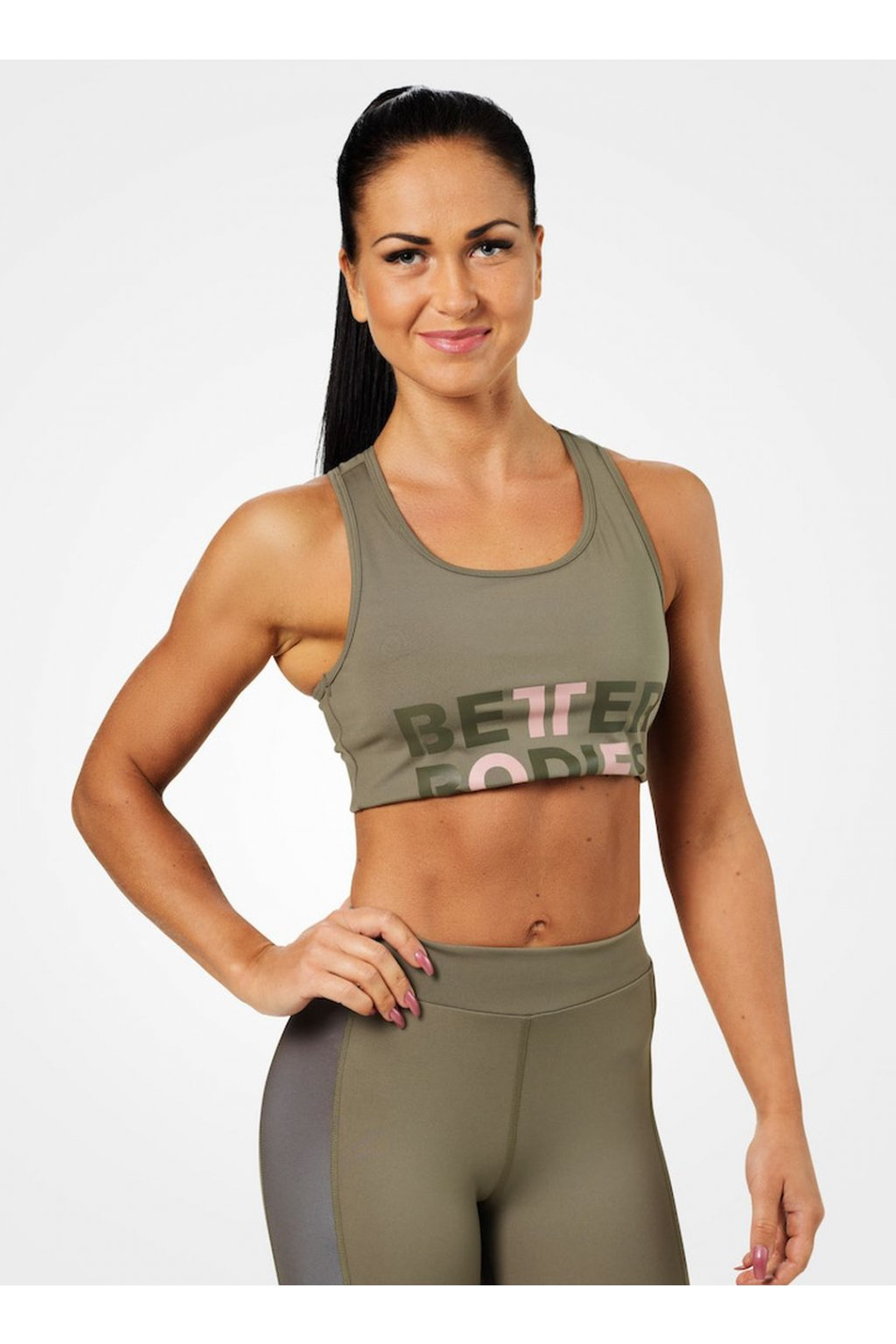 Better Bodies Podprsenka Bowery Sports Washed Green