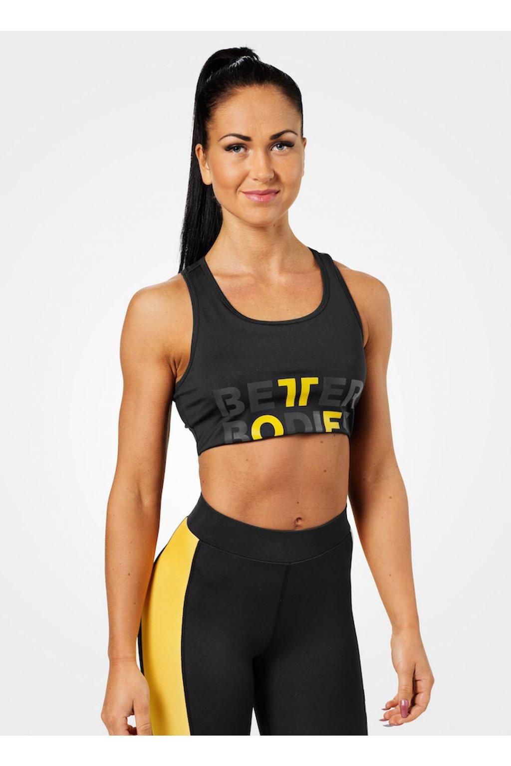 Better Bodies Podprsenka Bowery Sports Black/Yellow