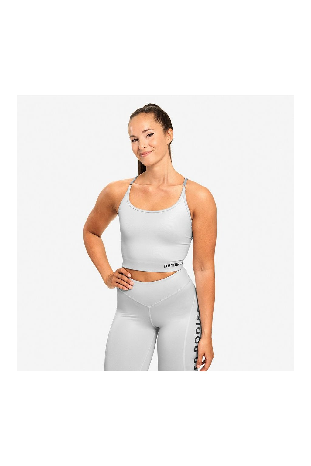 Better BodiesBetter Bodies Top Vesey Strap Frost Grey