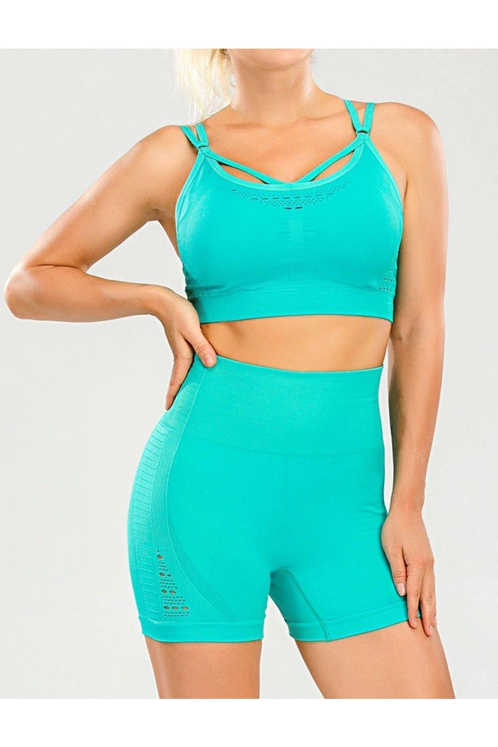 Dámský set Shorts Knit Turquoise