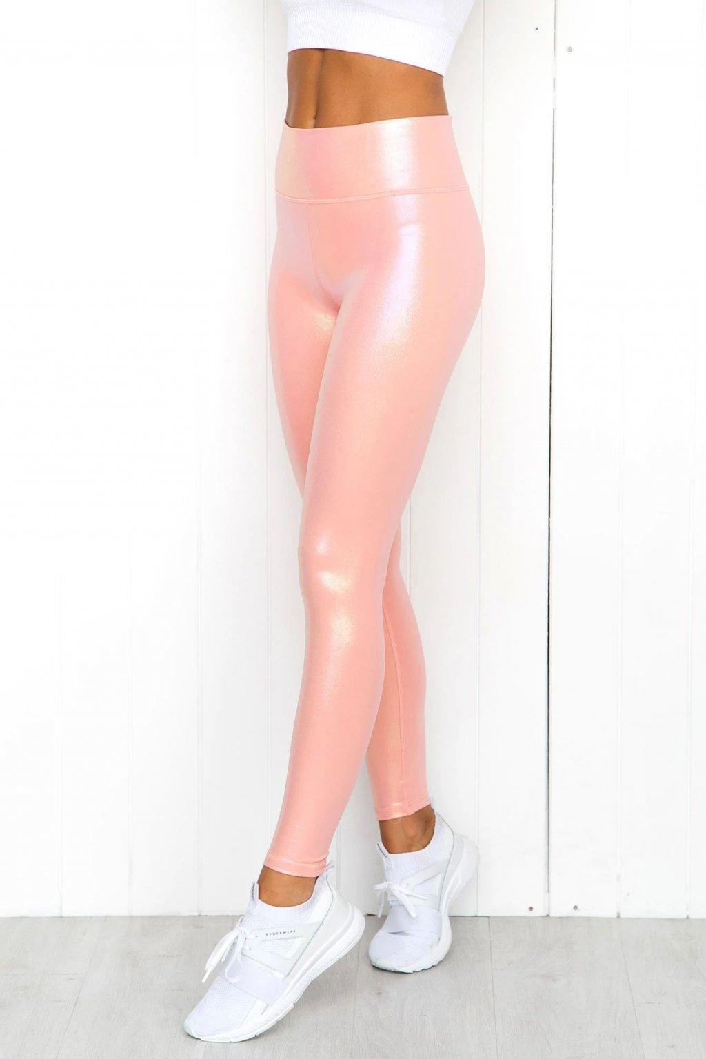 Dámské legíny Shine Peach Pink