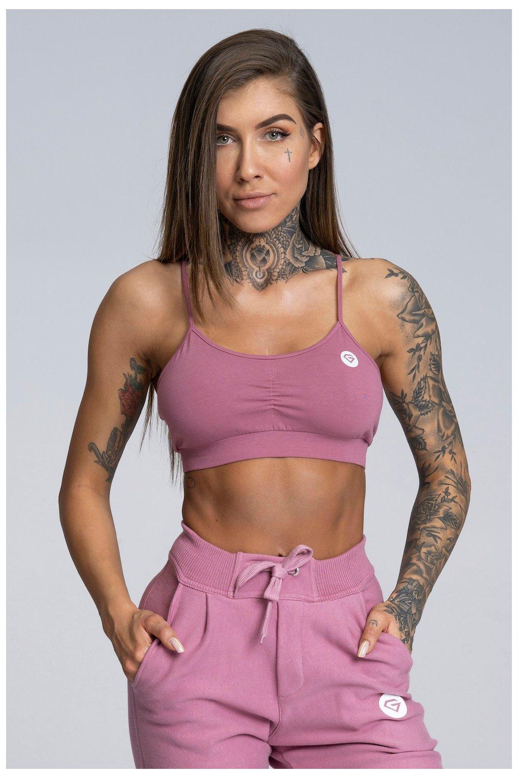 Podprsenka Gym Glamour Simple Dirty Pink