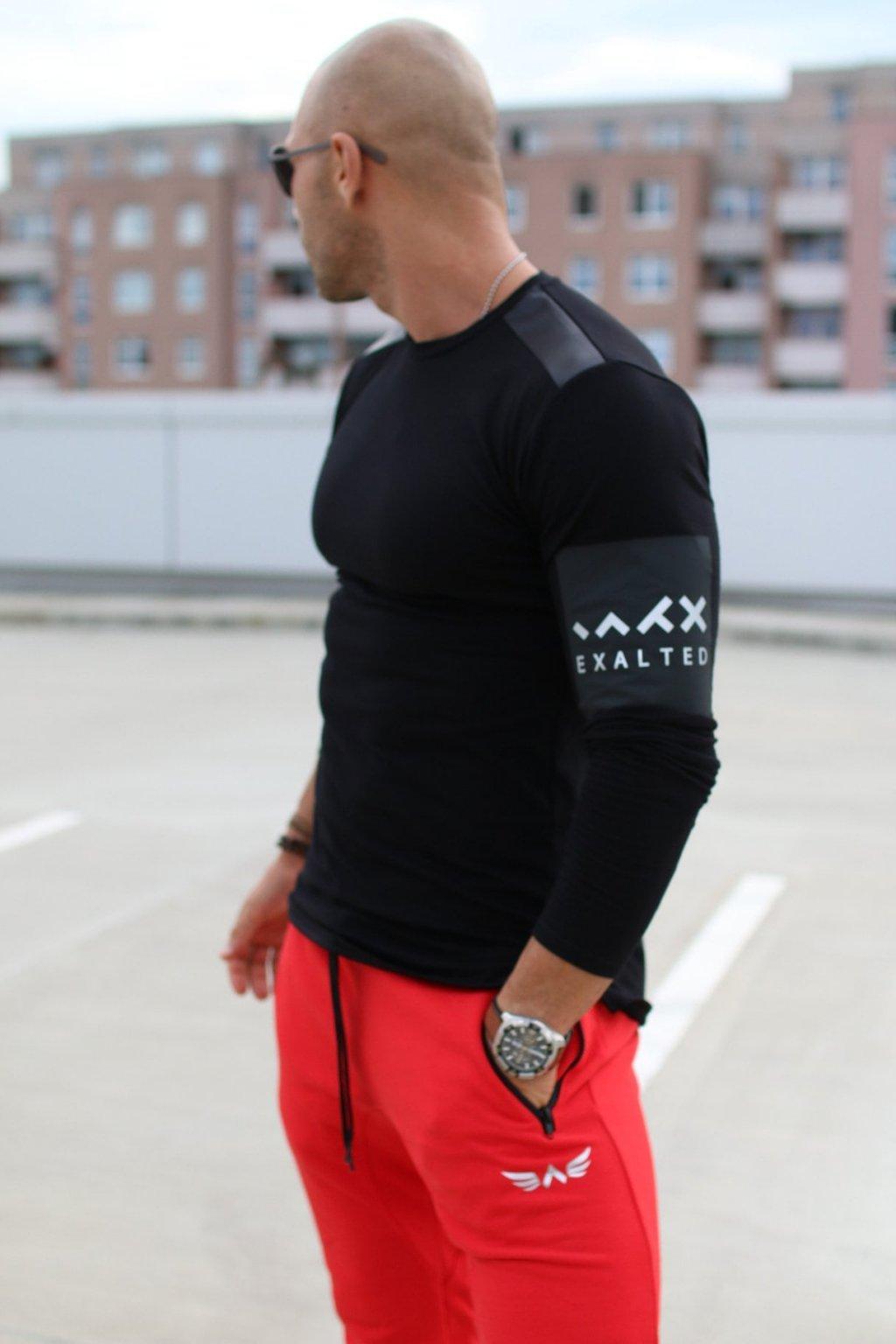 Pánské tričko Exalted L2 s Dlouhým Rukávem - Černá