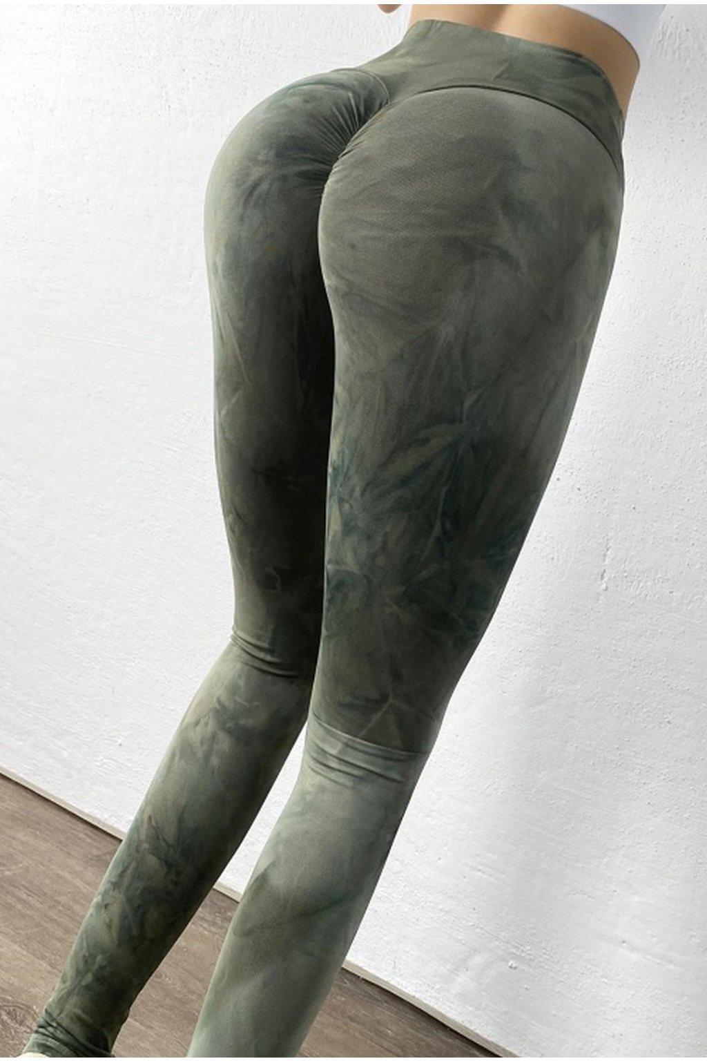 Dámské legíny Abstract Green