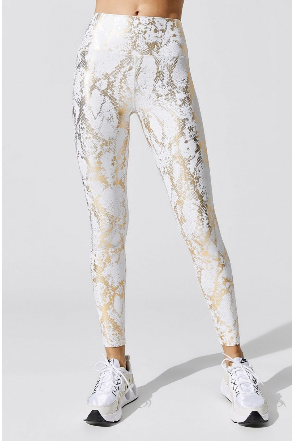 carb crb19331d snawhi carbon38 snake print legging bottoms cream gold 0003
