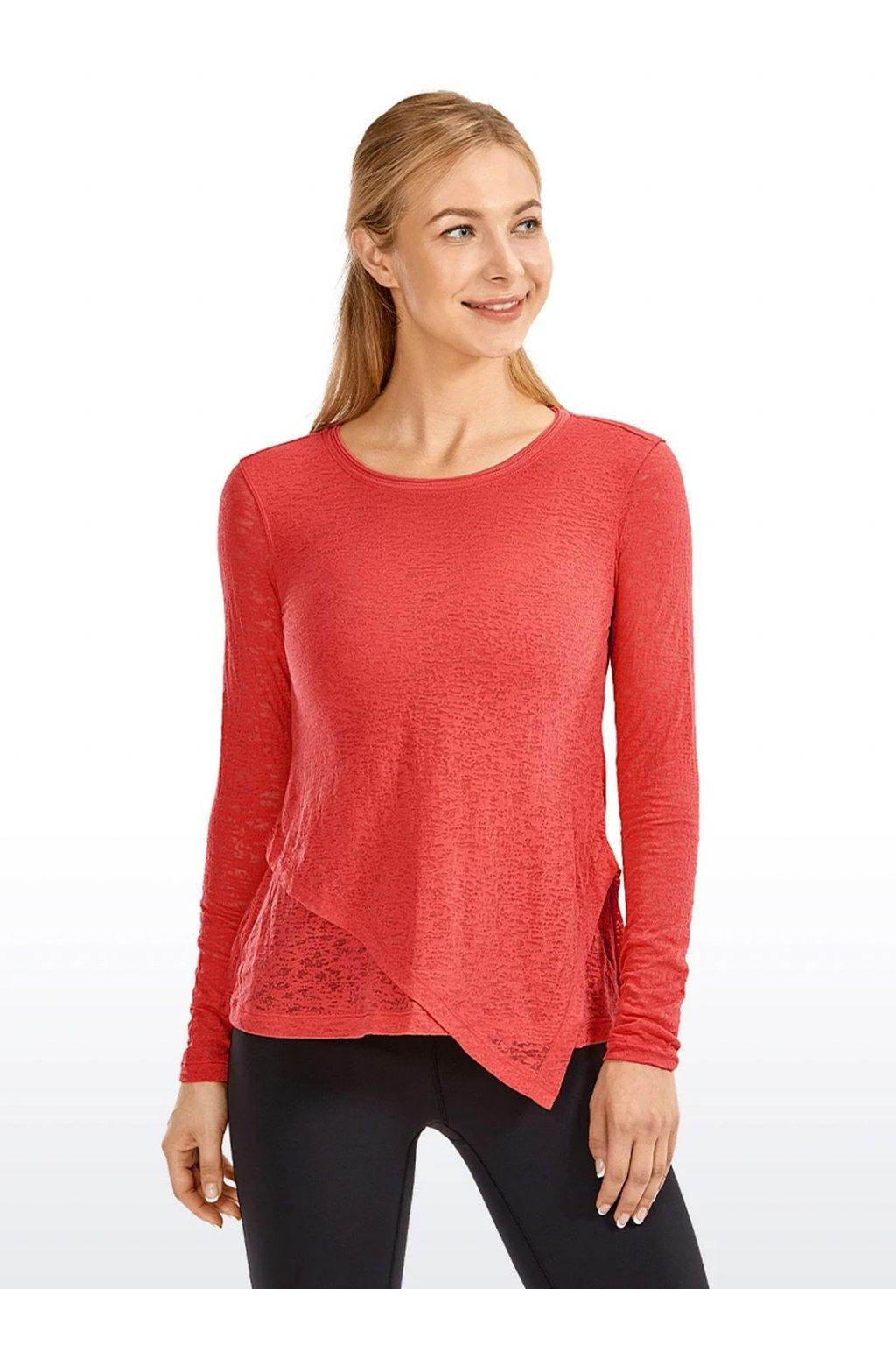 Dámské tričko Burnout Red